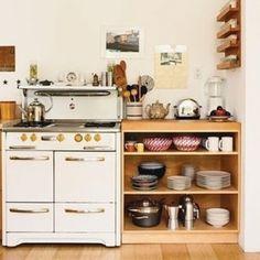 Love the open cupboard on bottom look
