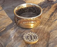 AA alcoholics anonymous Sobriety Coin Ring Hand by PatriotCoinRing