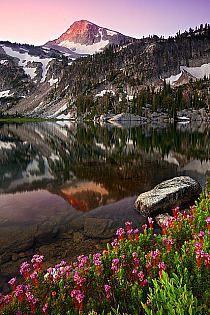 Sunrise, Mirror Lake, Oregon