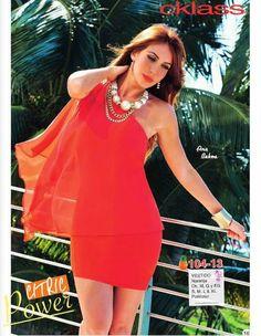 Ana Bekoa luce un vestido de color naranja Cklass PV 2015