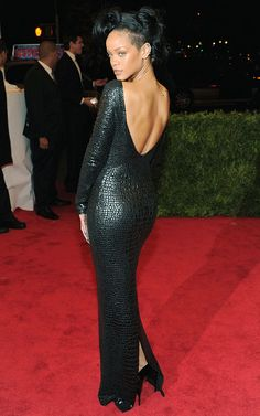 Rihanna in Tom Ford at the 2012 Met Ball