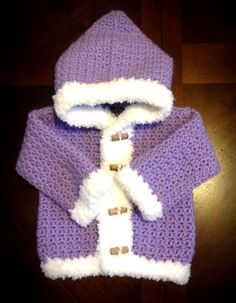 Cute #crochet hooded sweater by Catherine Richardson