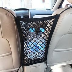 Amazon.com: Mictuning Universal Car Seat Storage Mesh/Organizer - Mesh Cargo Net Hook Pouch Holder for Bag Luggage Pets Children Kids Disturb Stopper: Automotive