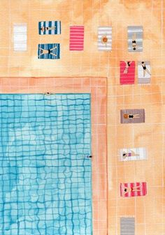 untitled pool picture by Joanne Ho (contemporary), New Zealander, self-taught artist (artisticmood)