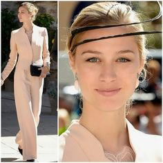 Beatrice Borromeo wearing Armani at the wedding of Prince Felix of Luxembourg and Claire Lademacher.