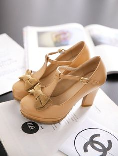 Spring and autumn bow belt t thick heel high heels women's shoes vintage formal work pumps single shoes women's platform shoes-inPumps from Shoes on Aliexpress.com | Alibaba Group Women's Belts - http://amzn.to/2id8d5j