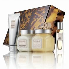 Laura Mercier Sweet Temptations Almond Coconut Milk Luxe Body... ($75) ❤ liked on Polyvore featuring beauty products, gift sets & kits, apparel & accessories, no color and laura mercier