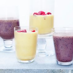 Här hittar du recept på nyttiga mellanmål med frukt och bär, nötter och frön. Både mättande och bra för din hälsa! Healthy Snacks, Healthy Recipes, Milkshake, Smoothies, Panna Cotta, Nom Nom, Detox, Clean Eating, Brunch