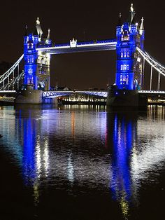 London's iconic Tower Bridge also gets the baby-blue treatment Monday night, reflecting over the waters of the Thames River.