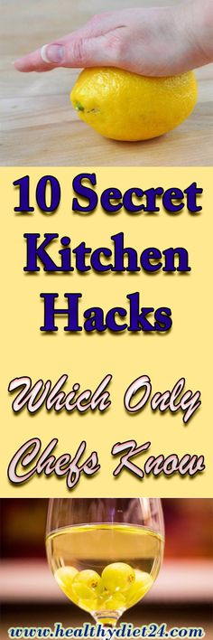 10 Secret Kitchen Hacks Which Only Chefs Know