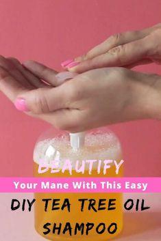 Tea Tree Oil Shampoo, Unique Hairstyles, Hair Oil, Hair Type, Herbalism, Easy Diy, Dandruff, Essential Oils, Locks
