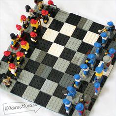 Make a LEGO chess game board