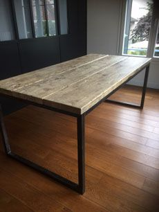 Tables Industrielles L Or Du Temps Mobilier Industriel Table Industrielle Table A Manger Industriel Table Salle A Manger