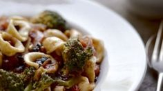 Orecchiette with currants, broccoli and pine nuts