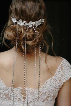 Znalezione obrazy dla zapytania hair chain wedding