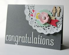 Congratulations - by Cindy Tobey using American Crafts' products