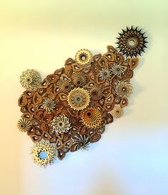 Intricately Cut Wood Blocks Pieced Together to Mimic the Blooming Beauty of Coral Reefs Wooden Cutouts, The Uncanny, Natural Forms, Wood Blocks, Handmade Wooden, Eye Candy, Sculptures, Bloom, Artwork