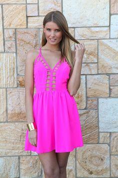 Pink Cutout Bodice Dress #openback