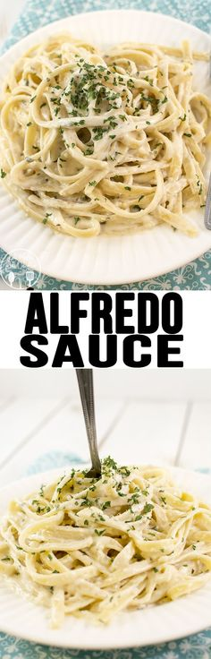Alfredo Sauce - This is the best alfredo sauce. Its thick, creamy and flavorful. And only 4 ingredients so its easy and quick to whip up!