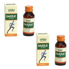 "2 x Dazzle Oil - 60 ml (Topical pain releiver) - - ""Expedited International Delivery by USPS / FedEx """