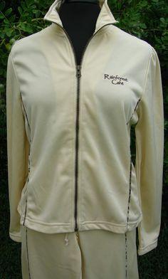 Rainforest Cafe Women's L Jogging Warm Up Track Suit Beige Camo NWOT Souvenir #RainforestCafe #TrackSweatSuits
