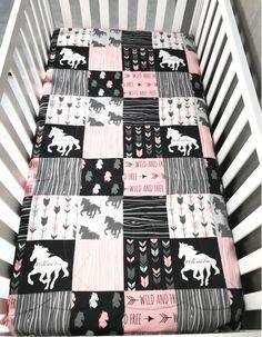 Baby Girl Crib /Toddler Bedding Crib Set Horse Ranch Source by Disney Crib Bedding, Baby Girl Bedding, Baby Girl Quilts, Baby Beds, Baby Bedding Sets, Nursery Bedding, Horse Nursery, Girl Nursery, Nursery Ideas