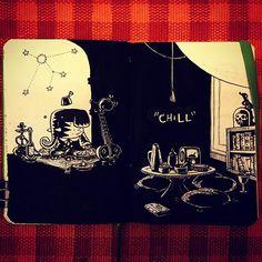 Chilling  #sketch #sketchbook #carlosaraujoillustrator #drawing #sketching #chill #easygoing #elephant #illo #instasketch #artistoninstagram