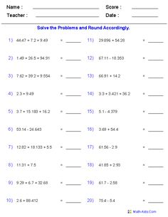 1000+ images about maths and science on Pinterest | Rounding ...
