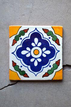 11 piezas Azulejos 6x6 hecho a mano.