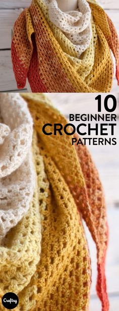 Even a very beginner in crochet can make beautiful products. These scarf patterns are perfect, whether you are trying to practice your stitches or make a simple yet beautiful project.