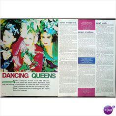 Bananarama. Dancing Queens. 2 page feature. Record Mirror magazine