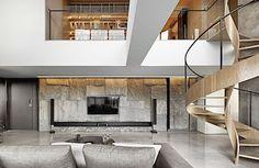 Interiér bytu je zařízen s maximální úctou k přírodním materiálům a jejich původu.