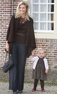 Princess Maxima and her youngest daughter Princess Ariane