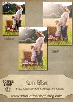 The CoffeeShop Blog: CoffeeShop Sun Bliss Photoshop/PSE Action!