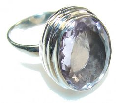 Very Light Purple Amethyst Sterling Silver ring s. 7 1/2