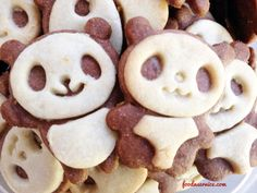 Panda Bear Cookies Recipe! These are delicious and super cute to make and for the whole family to enjoy!