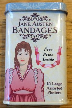Jane Austen Bandages! Jane Austen, Gifts For Friends, Fun Stuff, Lunch Box, Just For You, Make It Yourself, Shop, Store