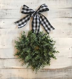 Mini lambs ear wreath - lambs ear wreath- buffalo check wreath - farmhouse wreath- window wreath - small wreath wreaths for front door Succulent Wreath, Boxwood Wreath, Greenery Wreath, Grapevine Wreath, Floral Wreaths, Gold Tree Topper, Tree Topper Bow, Christmas Tree Bows, Christmas Tree Toppers