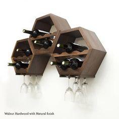 Nido de abeja de estante del vino estantes del vino la pared #wineracks