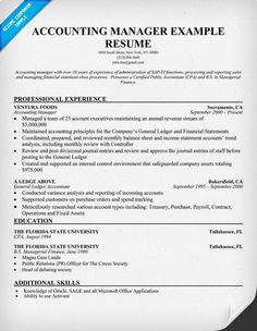 accounting manager resume sample job pinterest accounting manager job resume and resume format