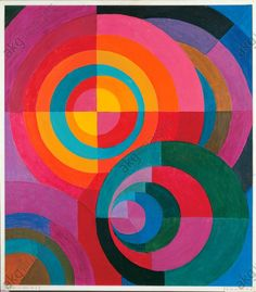 Swiss Johannes Itten was a pivotal member of the Bauhaus. From He associated certain colors with specific emotions. His book The Art of Color was a synopsis of his teachings at the Bauhaus. Johannes Itten, Bauhaus Art, Gallery Of Modern Art, Josef Albers, Guache, Wassily Kandinsky, Art Furniture, Art Plastique, Geometric Art