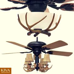 A great lodge 52 ceiling fan w4 light antler light kit ceiling a great lodge 52 ceiling fan w4 light antler light kit ceiling fan antlers and ceilings aloadofball Images