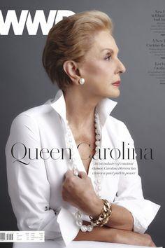 Carolina Herrera's Quiet Path to Power Carolina Herera, Ch Carolina Herrera, Beautiful Old Woman, Beautiful Life, Advanced Style, White Shirts, White Blouses, Aging Gracefully, Fashion Over 50