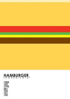 Pantone Food - Hamburger Art Print by Budi Satria Kwan