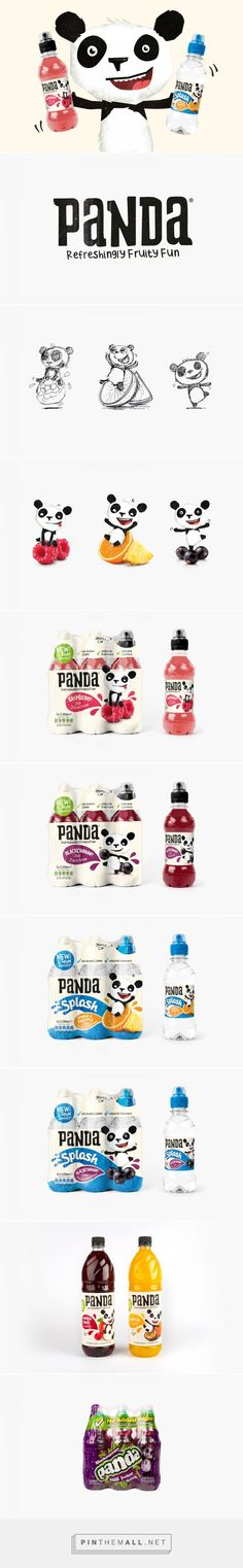 Panda Soft Drinks Branding & Packaging Design by Leeds curated by Packaging Diva PD. There's a new panda on the block, Melvin : )