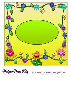 Garden child Birthday get well insert on Craftsuprint designed by Donna Kelly - Bright and cheerful insert for Garden child birthday card/ get well soon card front approx.7x7 cup634461_2248 - Now available for download!