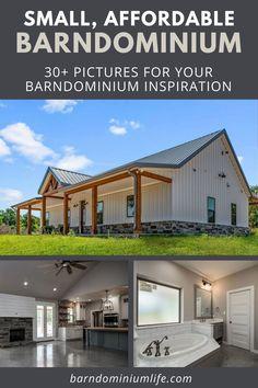 Barn Homes Floor Plans, Pole Barn House Plans, Pole Barn Homes, New House Plans, Dream House Plans, Small House Plans, Barn Home Plans, Small Barn Home, Barn Style House Plans