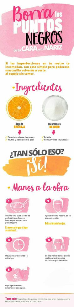 Borra los puntos negros con estos 10 trucos. ¡Tendrás la piel que siempre has querido! #EliminarPuntosNegros #RemediosCaseros #TipsDeBelleza #CutisLimpia #CuidadoDeLaPiel Beauty Makeup, Beauty Care, Beauty Skin, Health And Beauty, Makeup Tips, Hair Beauty, Makeup Ideas, Facial Tips, Facial Care