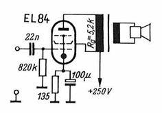 Röhren-Verstärker mit EL 84