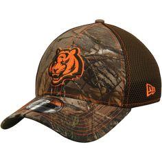 d4d305bcd1a22 Men s Cincinnati Bengals New Era Realtree Camo Olive Green Neo 39THIRTY  Flex Hat